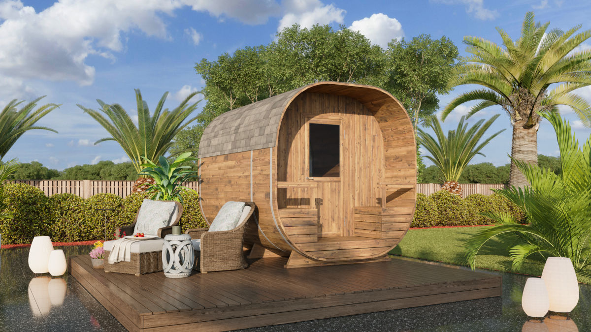 Barrel sauna hunter - sauna for up to 4 people