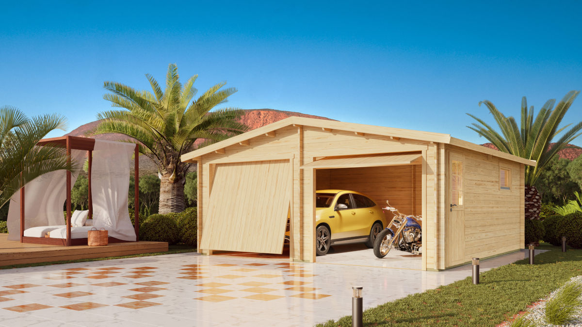 Nordic Garage 44 – shelter for two vehicles